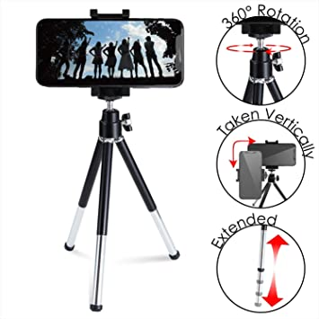 ELECOM-Japan Brand-Tripod Smartphone Compact Aluminum Stand Two Steps Expansion and Contraction Black P-STALBK: Amazon.es: Electrónica