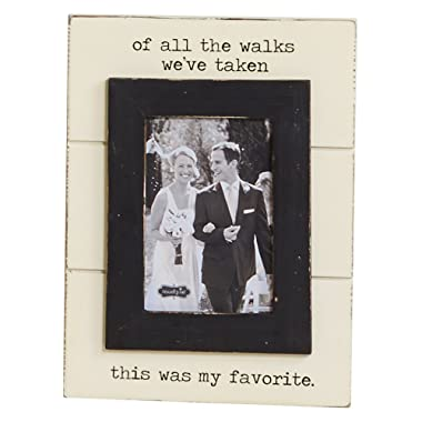 Mud Pie Wedding of All The Walks Picture Frame, of All The