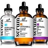ArtNaturals Anti-Aging-Set with Vitamin-C Retinol and Hyaluronic-Acid - (3 x 1 Fl Oz / 30ml) Serum for Anti Wrinkle and…