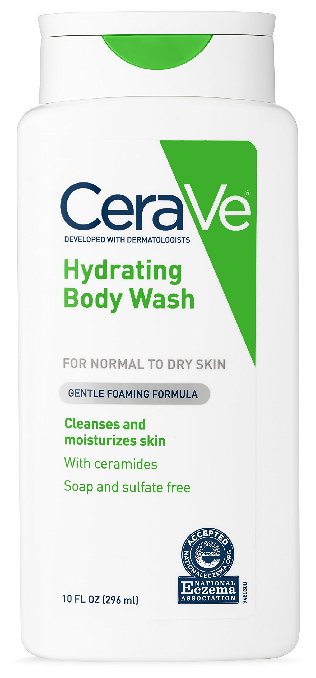 CeraVe Body Wash for Dry Skin | 10 Ounce | Moisturizing Body Wash with Hyaluronic Acid | Sulfate & Fragrance Free by CeraVe