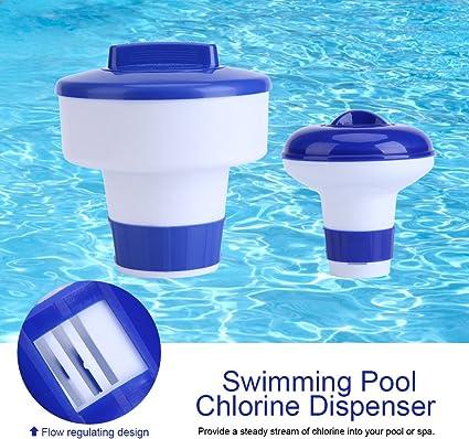 Dispensador cloro flotante, Dispensador químico Flotador de cloro ...