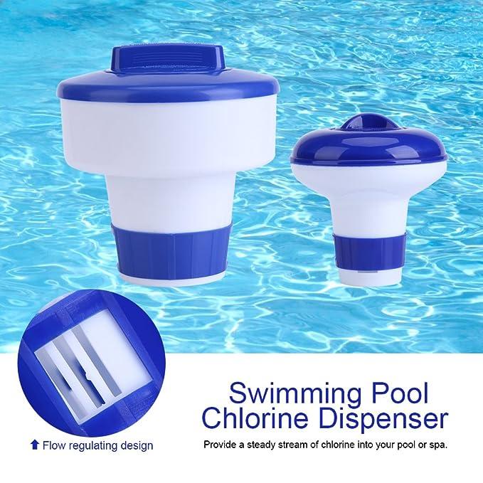 Dispensador cloro flotante, Dispensador químico, Flotador de cloro para piscinas y spa, Kits de mantenimiento para piscinas(M): Amazon.es: Bricolaje y ...