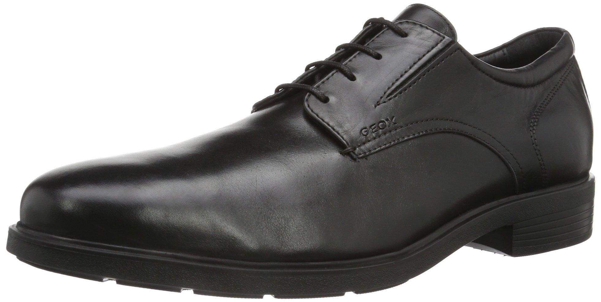 Geox Men's U Dublin 3 Plain Toe Oxford,Black,43 EU/10 M US