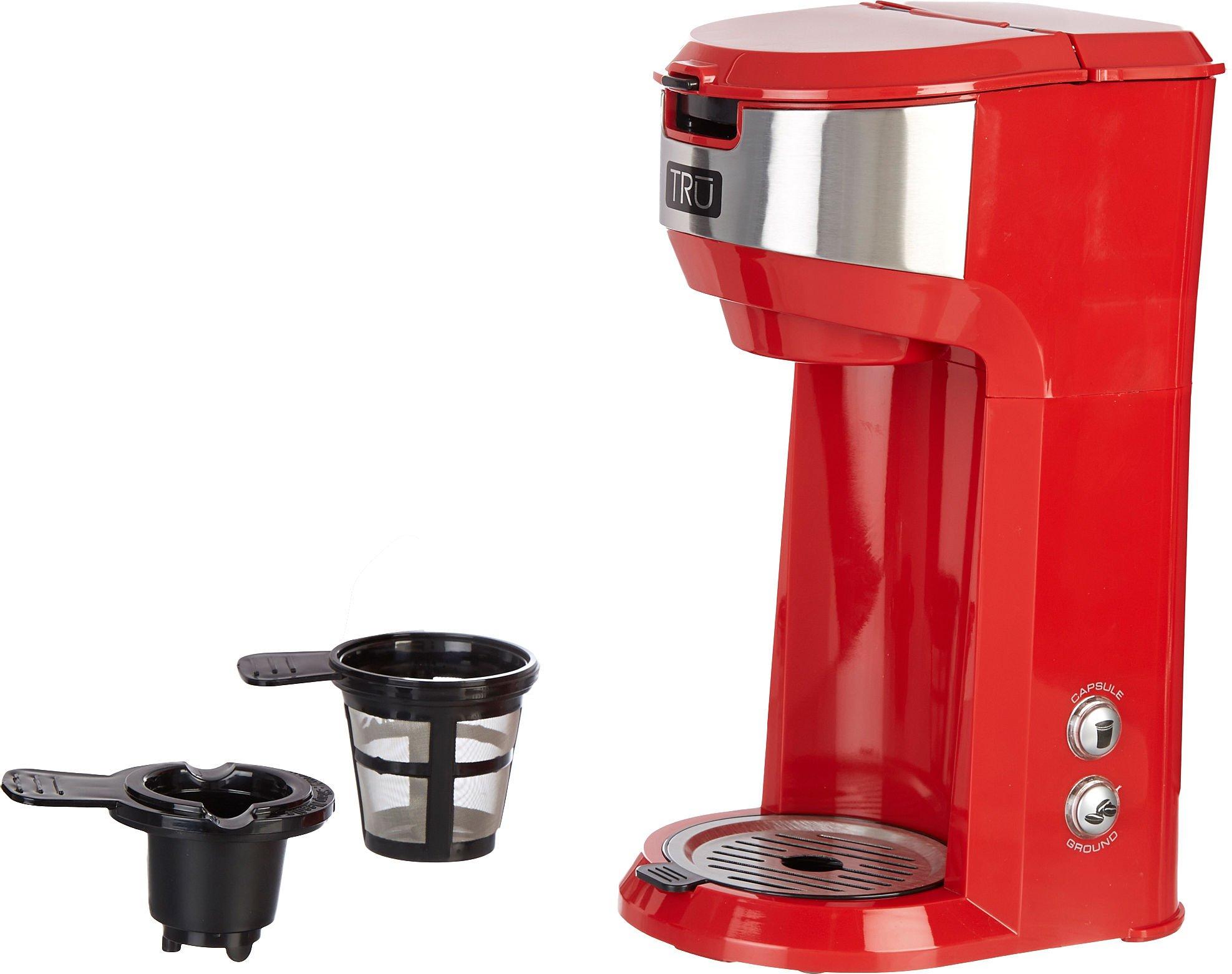 TRU Dual Single Serve Coffee Maker - Red (CM-1177RD) by Tru