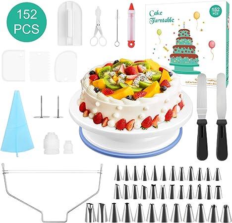 Awe Inspiring 152 Pcs Cake Decorating Supplies Cupcake Decorating Kit Baking Funny Birthday Cards Online Ioscodamsfinfo