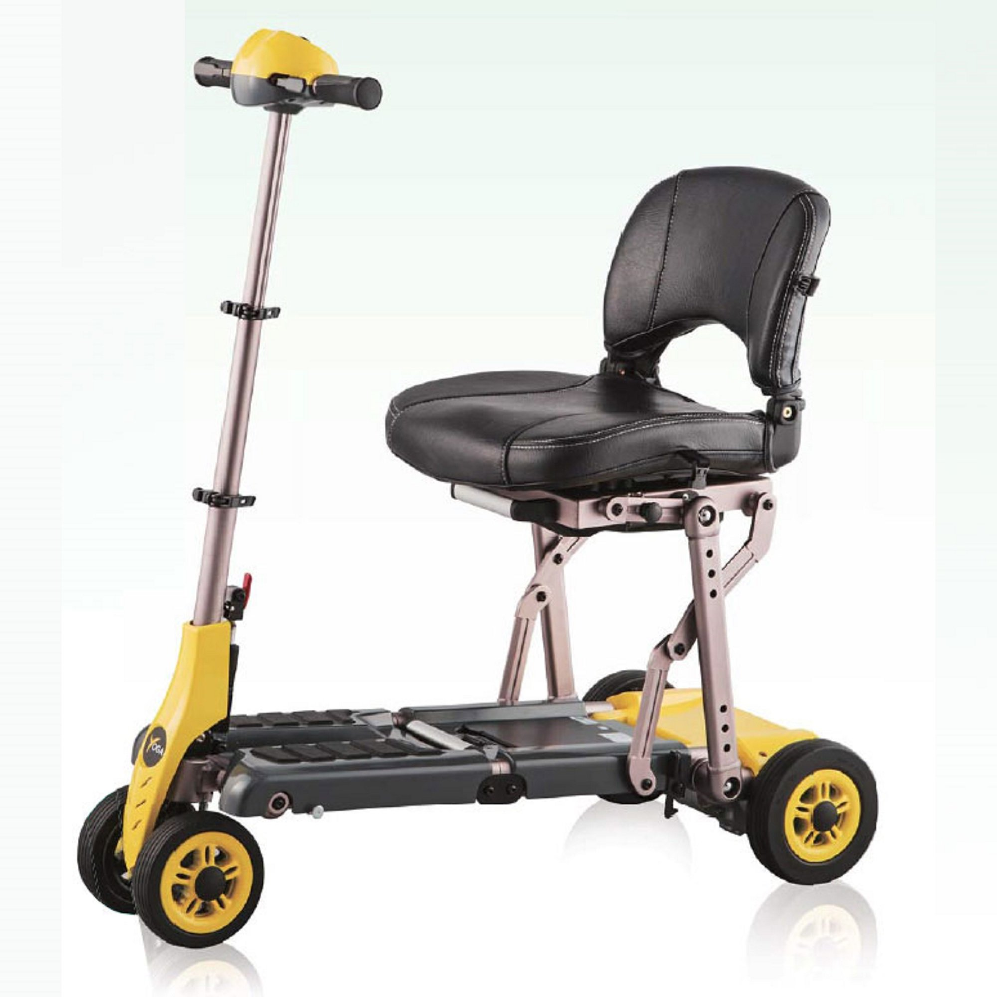 Merits Health Products - Yoga - 4-Wheel Portable Folding Scooter - 16''W x 14''D - Yellow