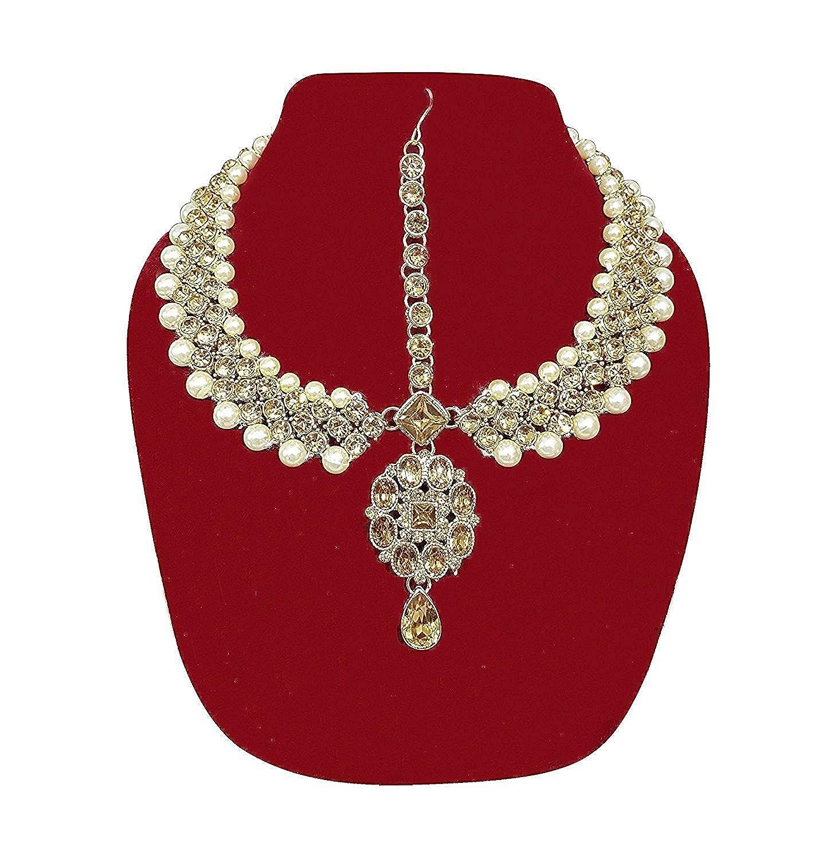 Buy Majik Matha Patti Polki Stone Indian Wedding Jewellry for Women