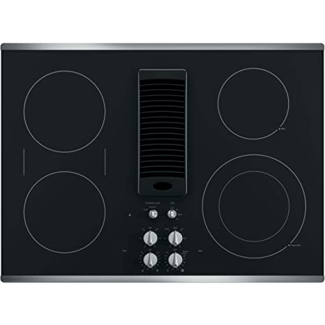 GE Profile Series 30u0026quot; Downdraft Electric Cooktop With Stainless Steel  Trim PP9830SJSS
