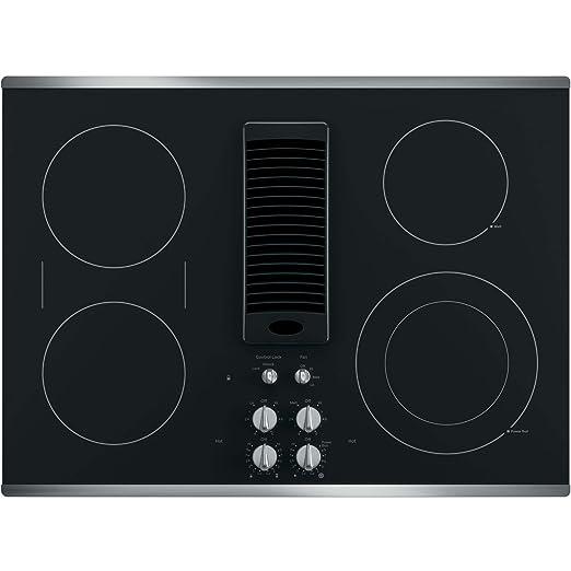Amazon.com: GE PP9830SJSS - Placa de cocción eléctrica de ...