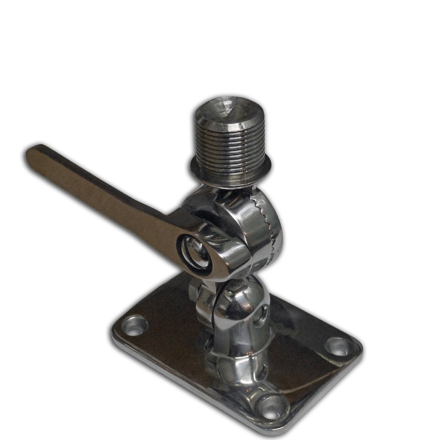 M&R INDUSTRIL Marine Vhf Antenna 316 Stainless Steel Adjustable Base Mount for Boats