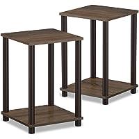 Set of 2 Hadyn 20' Walnut Simple End Table