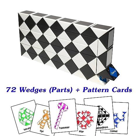 Amazon Fonza Rubik Snake Twist Puzzle 40 Wedges Parts With Impressive Rubik's Snake Patterns