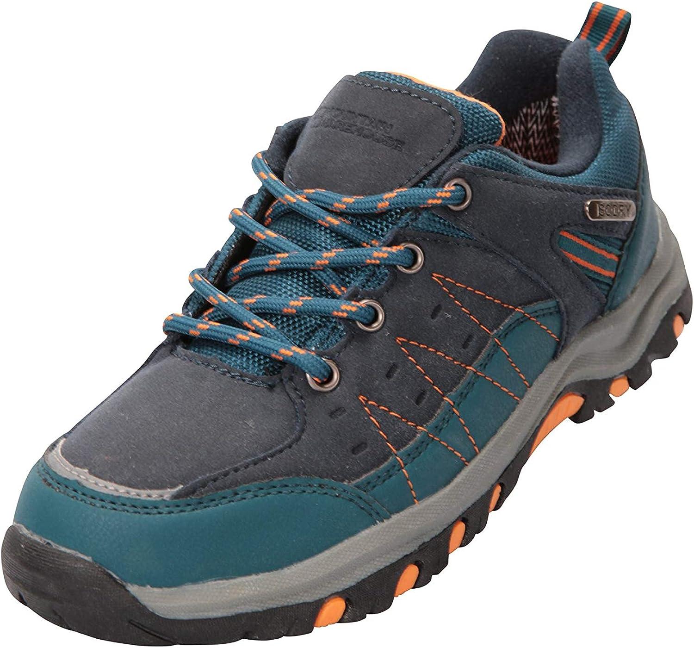 imperm/éables Chaussures de Course /à Semelle Haute Traction rev/êtement Maille /& Daim pour gar/çons et Filles Mountain Warehouse Chaussures de Marche Stampede Enfants