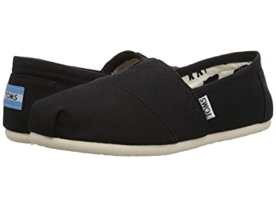 6 On 5 M Slip black Canvas Women's Toms E2DYIW9H