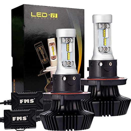 28 opinioni per FMS 2* H13 9008 LED lampadine del faro Kit, 6500K luce bianca delle, 40w Kit di