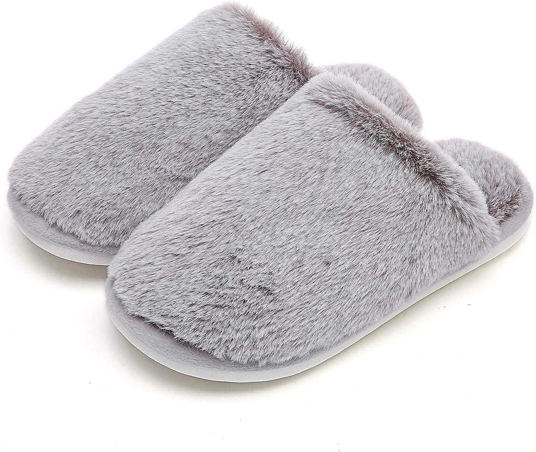 MEMON Women Fuzzy Winter House Slipper