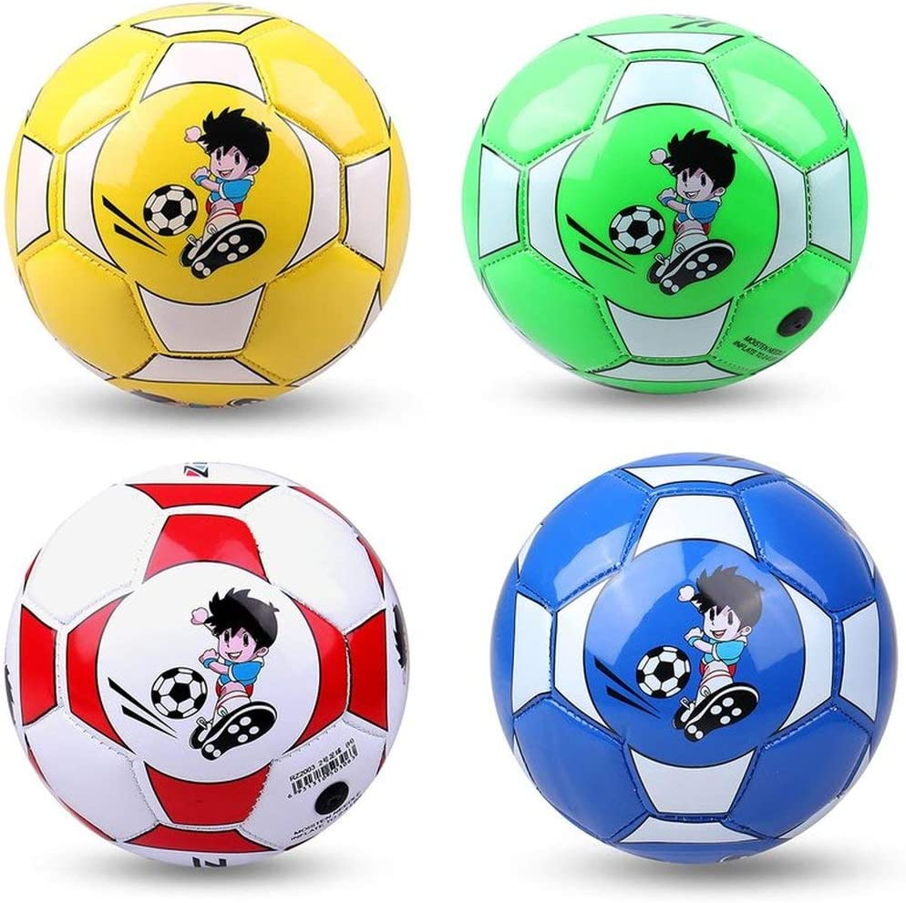 Red fengzong Official Size 2 Standard PU Leather Soccer Ball Training Football Indoor Outdoor With Free Net Needle For Children Students