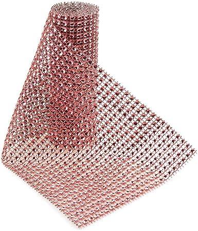 5 Yards Rhinestone Diamond Wrap Ribbon 4-3//4-Inch