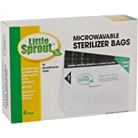 Microwave Sterilizer Bags (6pk) - Reusable Sanitizer Bags for Bottles and Pump Parts - Use Each Up to 20x