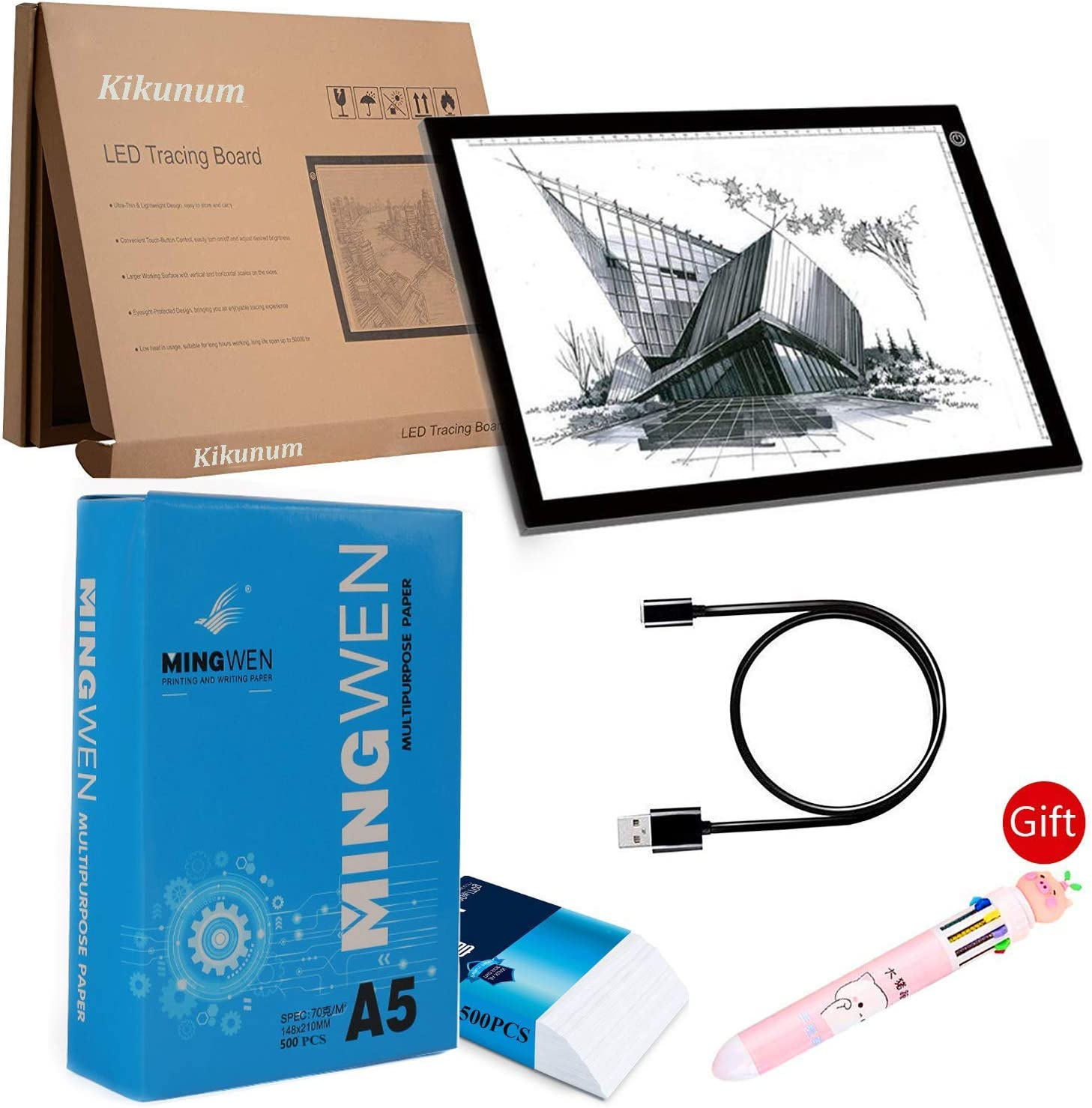 Led Light Box//Light Tablet for Tracing Flip Book Paper with Screws Flipbook Light Pad Flip Book Kit LED Lightbox for Drawing and Tracing /& 240 Sheets Animation Paper for Flip Books A5 Flipbook Kit