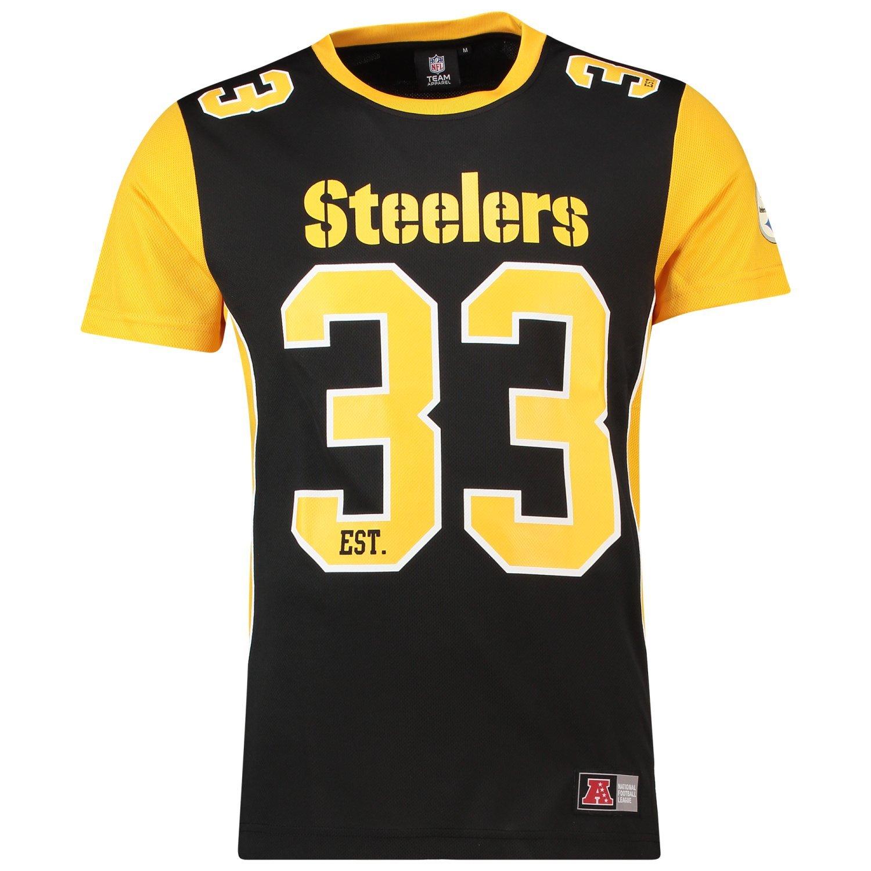 Majestic T-Shirt NFL Pittsburgh Steelers Dene Poly Mesh Noir/Jaune