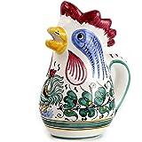 "ORVIETO: Rooster of Fortune pitcher Item Size: 9.5""H. (1 Liter - 34 Oz. - 1 Qt) [#013-ORV]"