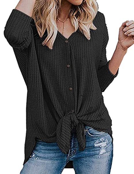 New Women/'s Short Sleeve Henley Knit Top with Metal Button Detail S M L