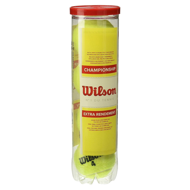 WILSON Championship Extra Duty Pelota-Unisex, Amarillo, 4: Amazon.es: Deportes y aire libre