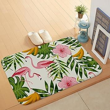 Hochflor Flanell Shaggy Schmutzfangmatte Teppich Flamingo Morbuy