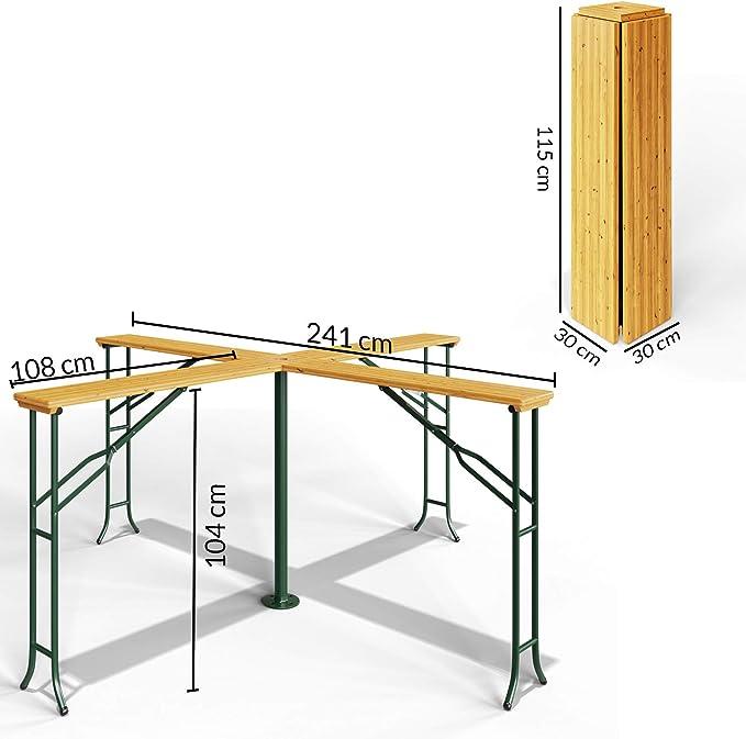Table Reception Table Haute Bois Deuba en Pliante de XZOiPku