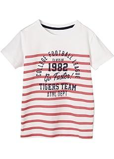e66ef1a8ce200 Vertbaudet T-Shirt garçon Broderie Lion Bleu 2 A  Amazon.fr ...
