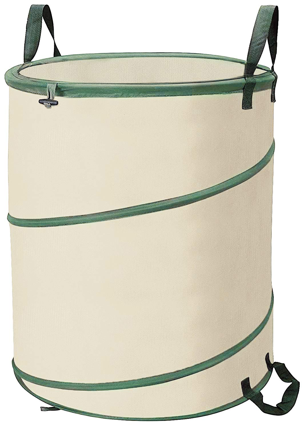 Toys Studio Garden Bag 30 Gallon Pop-Up Collapsible Garden Waste Bag Reusable Gardening Waste Bag Portable Trash Can with Drawstring Top for Leaf, Lawn and Yard Waste