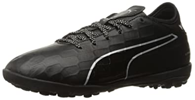 PUMA Men's Evotouch 3 TT Soccer Shoe, Black Black Silver, ...