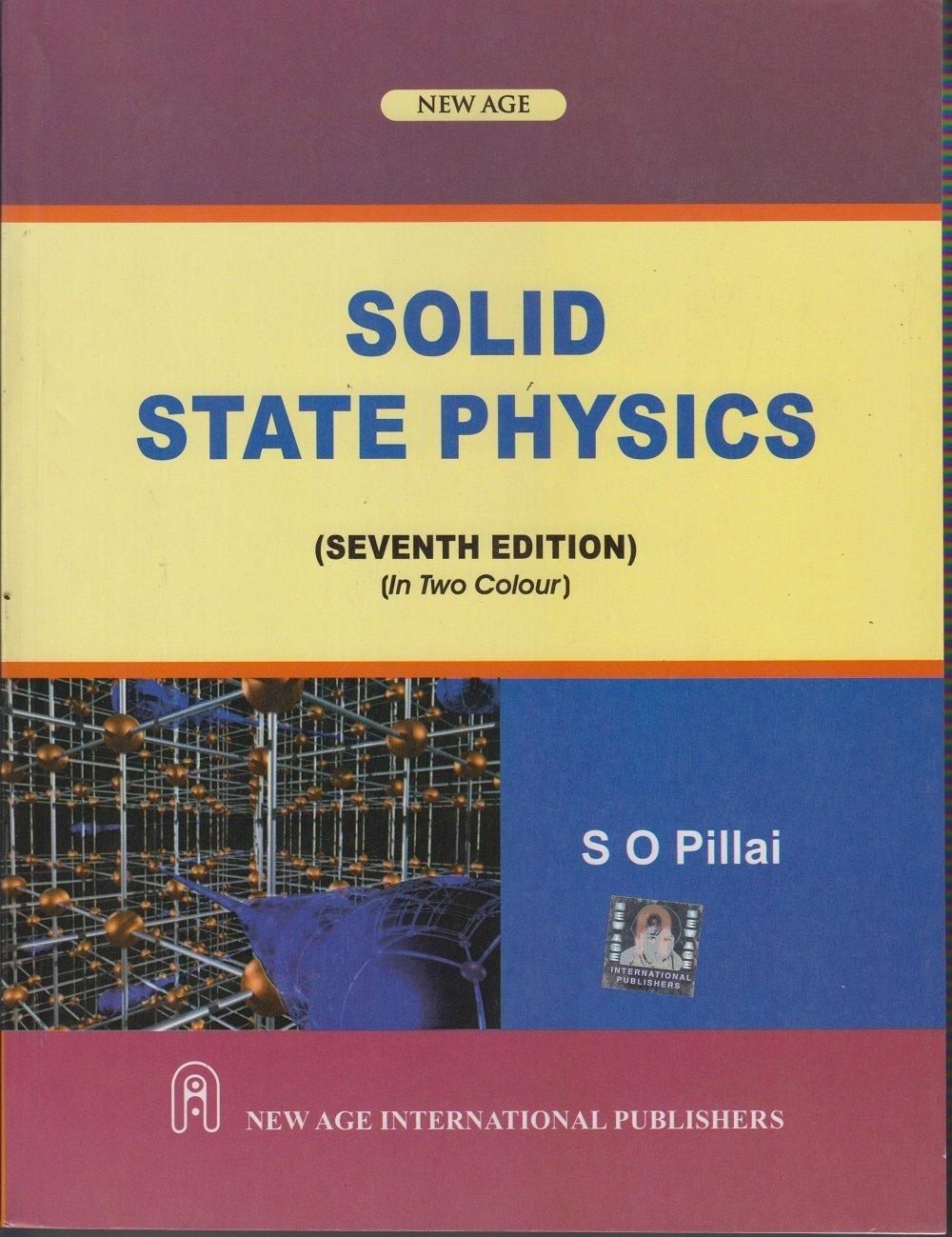 SOLID STATE PHYSICS SO PILLAI EPUB