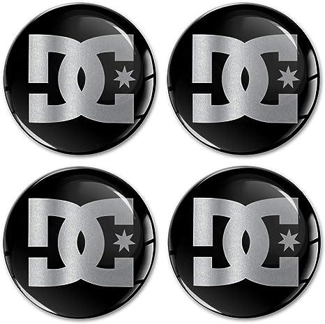 Biomar Labs 4 X 60mm Aufkleber 3d Silikon Dc Schwarz Silber Für Radkappen Nabenkappen Radnabendeckel Rad Aufkleber Nabendeckel A 8560 Küche Haushalt
