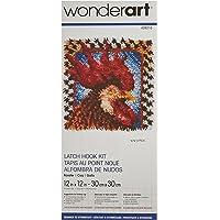 WonderArt - Juego de Ganchos para Cerrojo, Gallo, Rooster 12 X 12, Rooster 12 x 12, 1