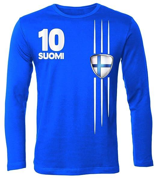 Copa del Mundo de fútbol - Campeonato de Europa de Fútbol - FINNLAND hombre manga Larga camiseta Tamaño S to XXL varios colores: Amazon.es: Ropa y ...