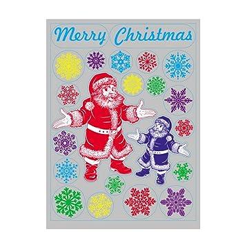 Eizur Abnehmbar Weihnachtssticker Santa Claus Fensterbilder