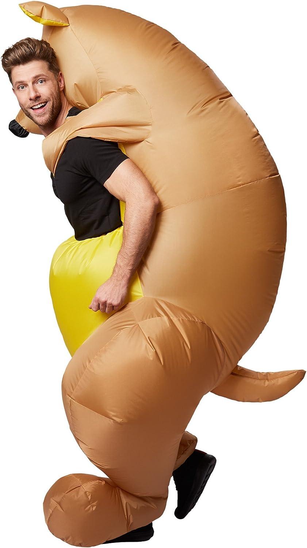 TecTake dressforfun Disfraz montado en Canguro Inflable Adulto Funciona con Pilas M/áxima Libertad de Movimiento