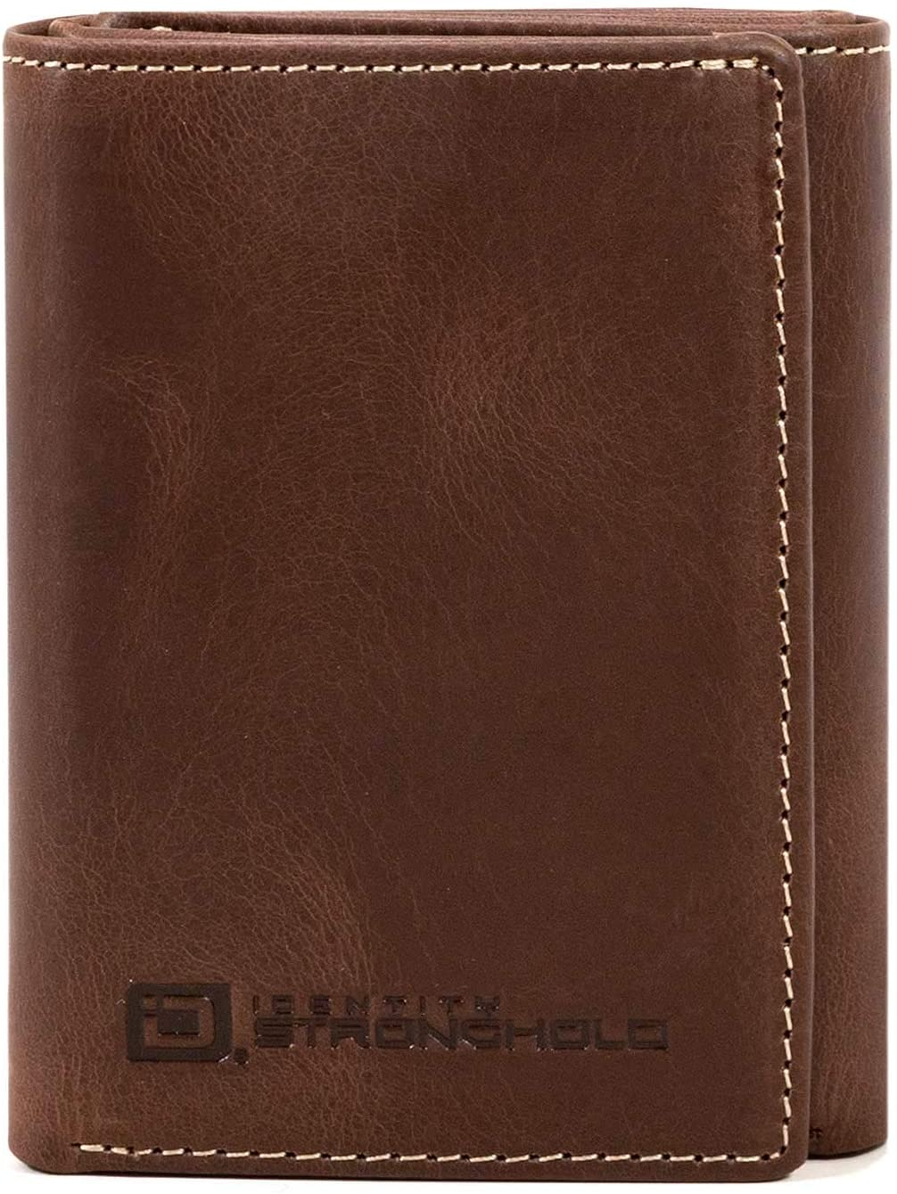 ID Stronghold RFID Blocking Trifold Wallet for Men - Rugged Genuine Leather