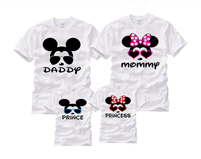 886180110 Wonder Labs Mickey Minnie Matching Family Cool Mouse Disney Shirts T-Shirt  (Small,