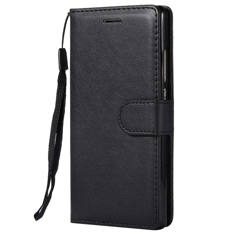 Lomogo Cover Huawei P8, Custodia Portafoglio in Pelle Porta Carta di Credito con Chiusura Magnetica per Huawei P8 - LOKTU23443 Oro Rosa