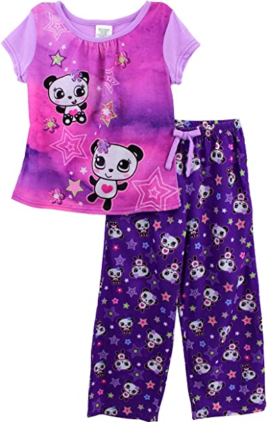 Bluezoo Kids Girls/' Multicoloured Leopard Cotton Pyjama Set