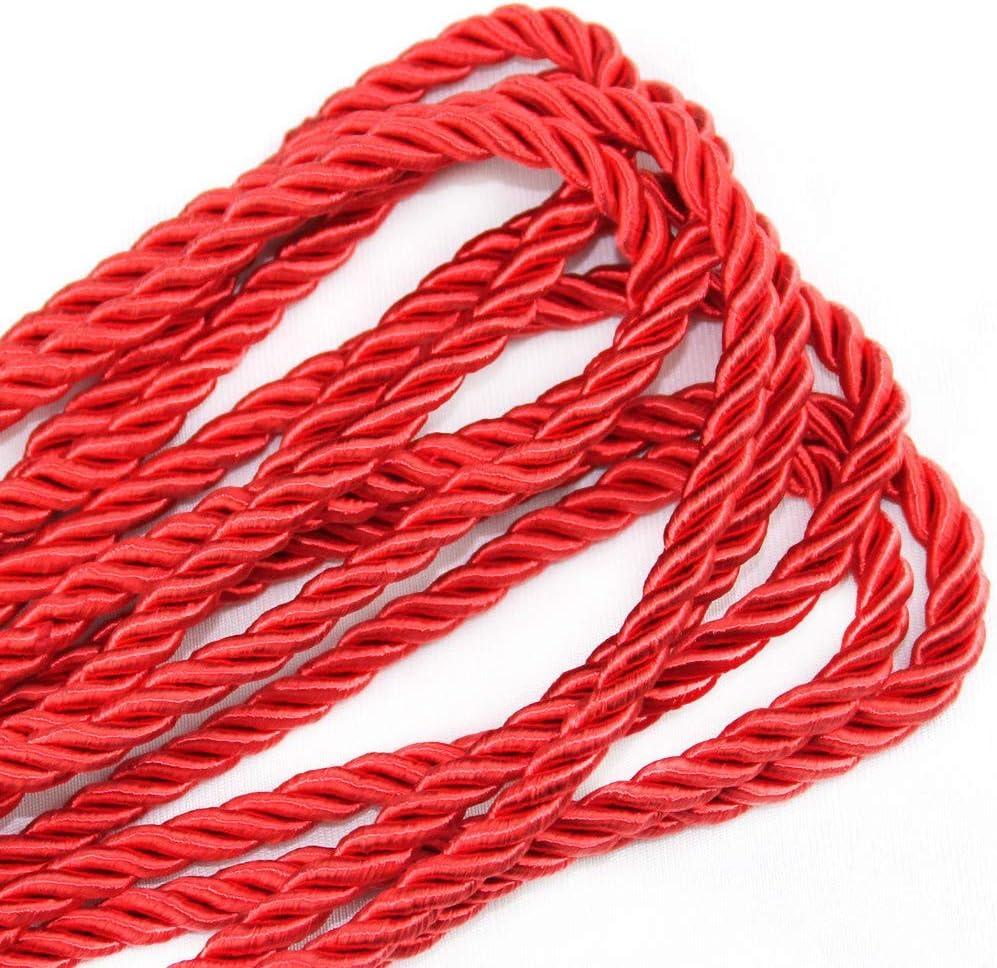 KuTi Kai Corde multifonctionnelle et Douce 100/% Nylon torsad/ée Naturelle Longue Corde Durable Tout Usage 8 mm 10 m Longueur 32 m