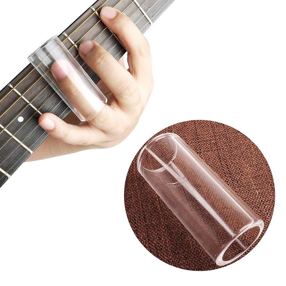 2Pc Pretty Glass Guitar Slide Medium Bottleneck Glass Guitar Slide