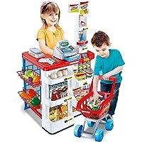 Hetkrishi Big Size Superstore Supermarket Set for Kids with Shopping Cart and Sound Effects | Supermarket kit for Kids
