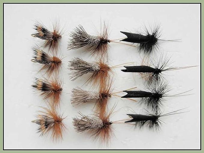 12 Pack Wulff /& Humpy Mayflies Fly Fishing Early Season Trout Flies Size 10