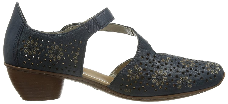 Rieker43788 Women Closed-Toe - Scarpe con Tacco Donna, Blu (Blau (royal/14)), 40