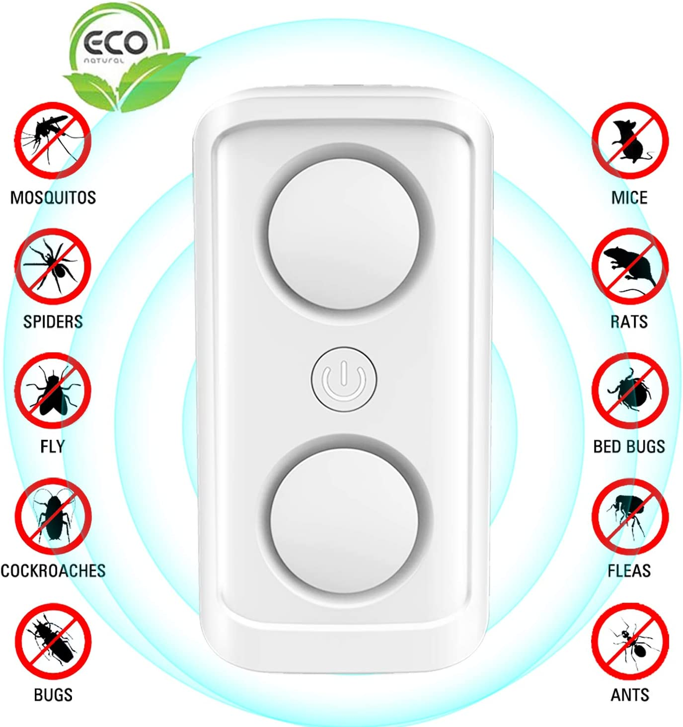 Spiders ERACII Ultrasonic Pest Repeller Plug in Rats Powerful Sonic Repellent with AI Frequency Conversion Technology for Mouse Flies White Mosquito Mice Repellent /& Rat Deterrent Ants