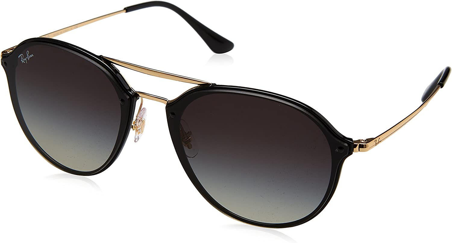 Ray-Ban 0RB4292N, Gafas de Sol Unisex adulto, Negro (Gold Grey Gradient), 62